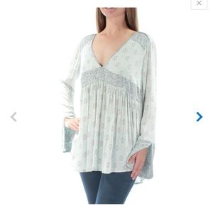 "NWT free people ""rolling hills"" print bell tunic"